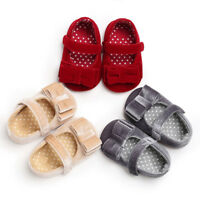 Baby Infant Kids Girl Soft Sole Crib Toddler Newborn Anti-slip Sneakers Shoes AU