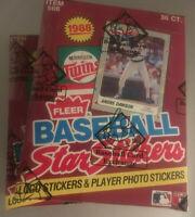 1988 Fleer Baseball Stickers Unopened Wax Box BBCE  FASC VERY RARE