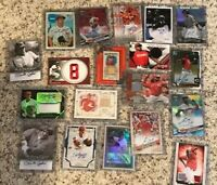 LOT 30 Cincinnati Reds Cards 5 specials 1-Relic Auto/Graded 1-Senzel Votto Rose