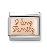 Nomination Charm Rose Gold I Love Family RRP £20