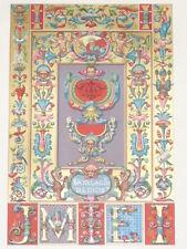 RENAISSANCE Peintures Manuscrits Espagne RACINET LITHOGRAPHIE Art Decoratif 1870