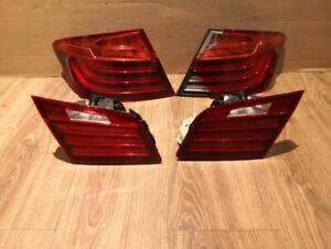 BMW F10 5 Series Saloon 14-17 LCI Rear Tail Lamps Europe Amber Damaged OEM