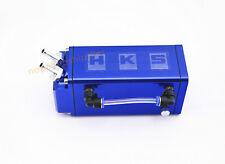 BLUE BILLET ALUMINUM RACING ENGINE OIL CATCH RESERVOIR TANK CAN HOSE INDICATOR
