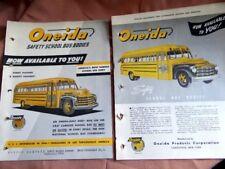 Studebaker Bus Oneida School Bus Body 1946-1949 Color Brochures