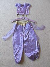 Girl's Princess Jasmine Aladdin Disney Store Halloween Costume +Crown Medium 7/8
