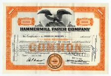 Hammermill Paper Company Stock Certificate