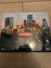 DERWENT PROCOLOUR - Professional Quality Artists Colour Pencil Set - Tin of 24