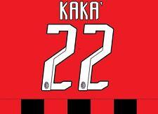 Kaka 22 Ac Milan 2007-2008 Home Football Nameset for shirt