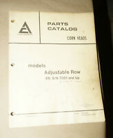 1979 Allis-Chalmers Corn Heads Models Adjustable Row Parts Catalog Manual