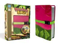 NIV Adventure Bible, Italian Duo-Tone, Clip Closure, Pink/Green BRAND NEW!!!