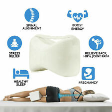 Contour Memory Foam Leg Pillow Bed Back Hip Leg & Knee Support Wedge & Sciatica