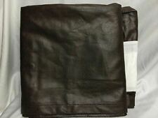Western Rodeo Straight Full Double Brown Faux Leather Bed Skirt Dust Ruffle New