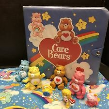 Lot: Kenner Care Bears Vinyl Case, PVC Figures, Pillowcase Vintage 1980s Toys