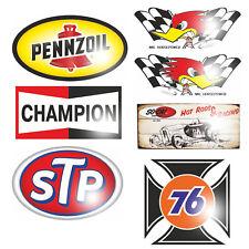 Set Tuning Aufkleber Sticker Rockabilly Youngtimer Retro STP V8 Ratte Racing OEM