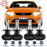 2Pair H4 H7 LED Headlight Kit Bulbs Globes Lamp For Ford Falcon BA BF FG XR6 XR8