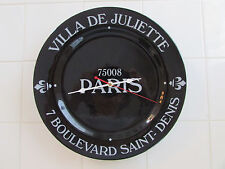 Large Country French Paris Plate Clock Black & White