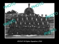 OLD POSTCARD SIZE PHOTO OF THE RNZAF AIR FORCE 18th FIGHTER SQUADRON c1944
