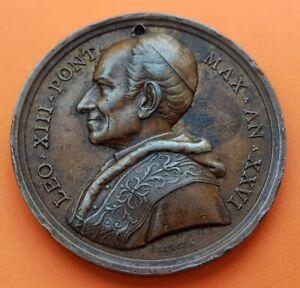 @HOLED@ VATICANO 1903 Medaglia Papa LEO XIII Pont. Max An XXVI ROME Copper Medal