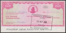 TWN - ZIMBABWE 16 - 5000 D. 2003 aXF Emergency Issue