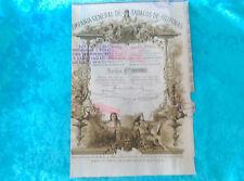 ACCION COMPAÑIA DE TABACOS DE FILIPINAS 1882