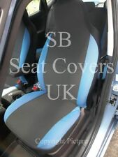 TO FIT A JAGUAR X TYPE, CAR SEAT COVERS, ANTHRACITE+ BLU BOLSTERS
