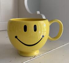 Yellow Smiley Face Mug Cup Soup Coffee Tea Teleflora 20 Oz