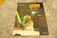 Star Wars Ii Attack Of The Clones 2002 Oscar ad Yoda with saber & Talk To Her