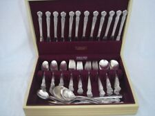 Wm Rogers Mfg Co Original Rogers Silver Plate Flatware Magnolia 1951 103 Pcs Vtg
