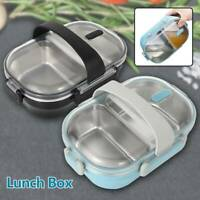 Kid Adult Lunch Box Food Container Microwave Bento Boxes Sandwich Storage Box