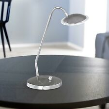 WOFI LED Lámpara de MESA Twin Níquel CRISTAL Flexarm REGULADOR 4,6 VATIOS 400LM