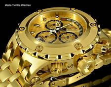 Invicta 52MM Reserve Specialty Subaqua Gold Dial 18k Gold Tone Bracelet Watch