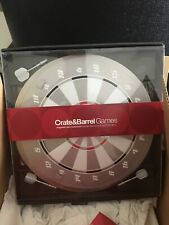 Crate & Barrel Game-Magnetic dart board set includes 3 boards & darts-BRAND NEW