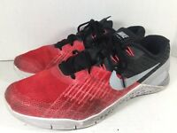 New Nike Metcon 3 Red Silver & Black Mens Size 10 Max Sport Shoes 852928-600 Pro
