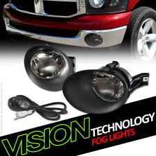 Smoke Bumper Driving Fog Lights Lamps Dy W/Switch+Bezel Cover 02-09 Ram/Durango
