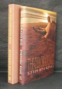 COLORADO KID Stephen King AUTHOR SIGNED LTD ED & MATCHING # ARTIST SET JK Potter