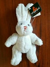"NWT Unipak Designs, Inc. 8"" Plush Bunny - White Jointed RETIRED"