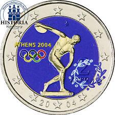 Griechenland 2 Euro Gedenkmünze 2004 bfr. Olympische Spiele in Athen in Farbe