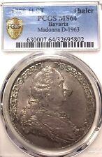 German States Bavaria 1778 HST Taler Coin Thaler PCGS MS 64 F.STG UNC Deutsch