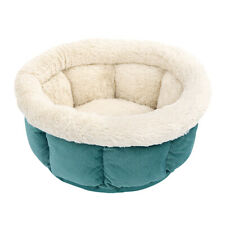 Cozy Fleece Cat Dog Cushion Bed Indoor Round Nesting Sleep Kennel for Small Dogs