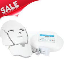 3 Color Photon LED Infrared Facial Neck Mask Skin Rejuvenation Acne Removal Care