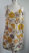 NEW DOSA reversible floral print cotton mini sun slip dress size 1 XS S