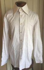 Andrea Palombini Ari White Red Pen Striped Button Up Shirt Men's XXXL NWT $215