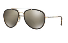 BURBERRY BE3090Q 10525A Sunglasses Gold Brown Frame Gold Mirrored Lenses 58mm