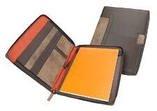 NAVA EASY SCHREIBMAPPE BRAUN DIN A4 WRITING CASE STIFTHALTER SCHREIBBLOCK NEU