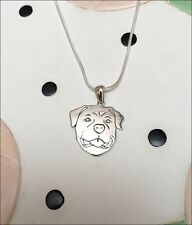 Rottweiler .925 Sterling Silver Charm Necklace - New - FREE SHIPPING