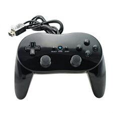 Black Pro Controller Remote Classic Game  For Nintendo Wii  # 580033