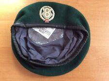 SWITZERLAND SWISS GREEN BERET HAT AND BADGE ARMY MILITARY - ORIGINAL!