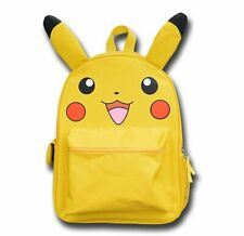 Large Pikachu Backpack Bag Yellow School Rucksack with Cute Ears Pokemon Kawaii