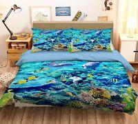 3d Surfing Delfins Strand 5 Bett Kissenbezüge Steppen Duvet Decken Set Single De Bettwaren, -wäsche & Matratzen Bettdecken- & Kopfkissen-sets