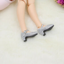 """Fashion Ankle Strap Shoes for 12"""" Blythe 1/6 BJD MSD DOD Doll Clothes Silver"""